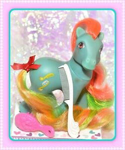 ❤️My Little Pony MLP G1 Vtg Twisty Tail Brush 'n Grow Earth Pony LONG Hair❤️
