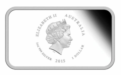 AUSTRALIA SUNBURNT COUNTRY I LOVE HER JEWEL SEA 2015 1OZ SILVER PROOF COIN
