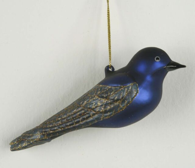 Purple Glass Christmas Ornaments Collection On EBay! - Bird Christmas Tree Ornaments