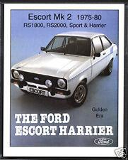 FORD ESCORT MK2 1975-80 - Collectors Card Set - RS1800 RS2000 Sport & Harrier