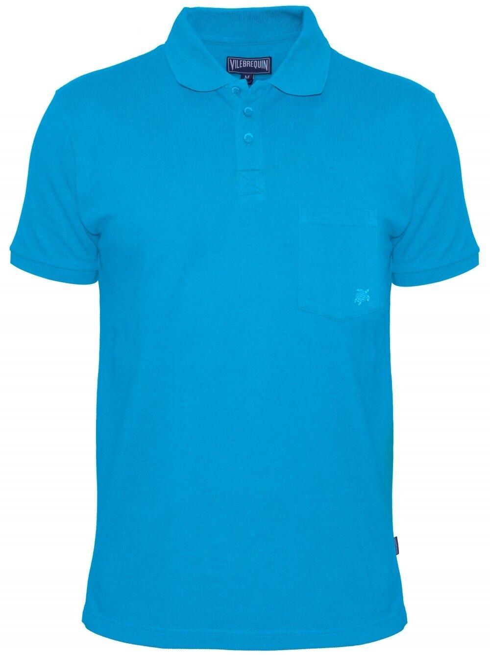 VILEBREQUIN St.Tropez Luxus Preppy Cotton Poloshirt Royal blue Gr.XL 54 NEU