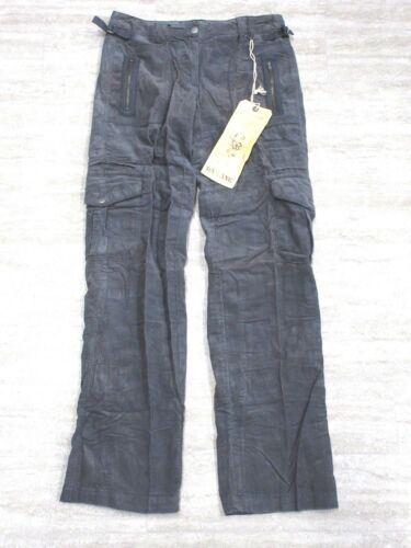 NEW Da-Nang Women/'s Pants Cargo Corduroy w// Belt DEEP GREY BCG5247 SMALL S