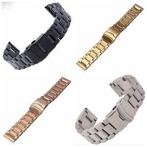 Stainless-Steel-Watch-Band-Wrist-Strap-Bracelet-Double-Lock-Flip-18-20-22-24mm