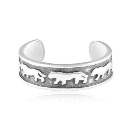 Panther Toe Ring Genuine Sterling Silver 925 Best Jewelry Adjustable 1.3 grams