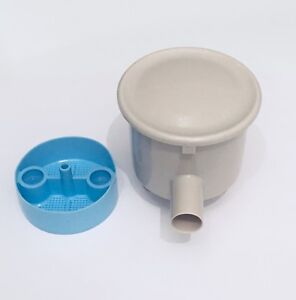 2-1-8-034-Type-C-Vacuum-Canister-Side-Port-Twist-Lid-Dental-Vacuum-Evacuation