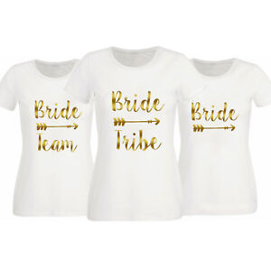 HEN NIGHT T SHIRT BRIDE TRIBE PERSONALISED BRIDAL PARTY WEDDING  ANY ROLE MADE