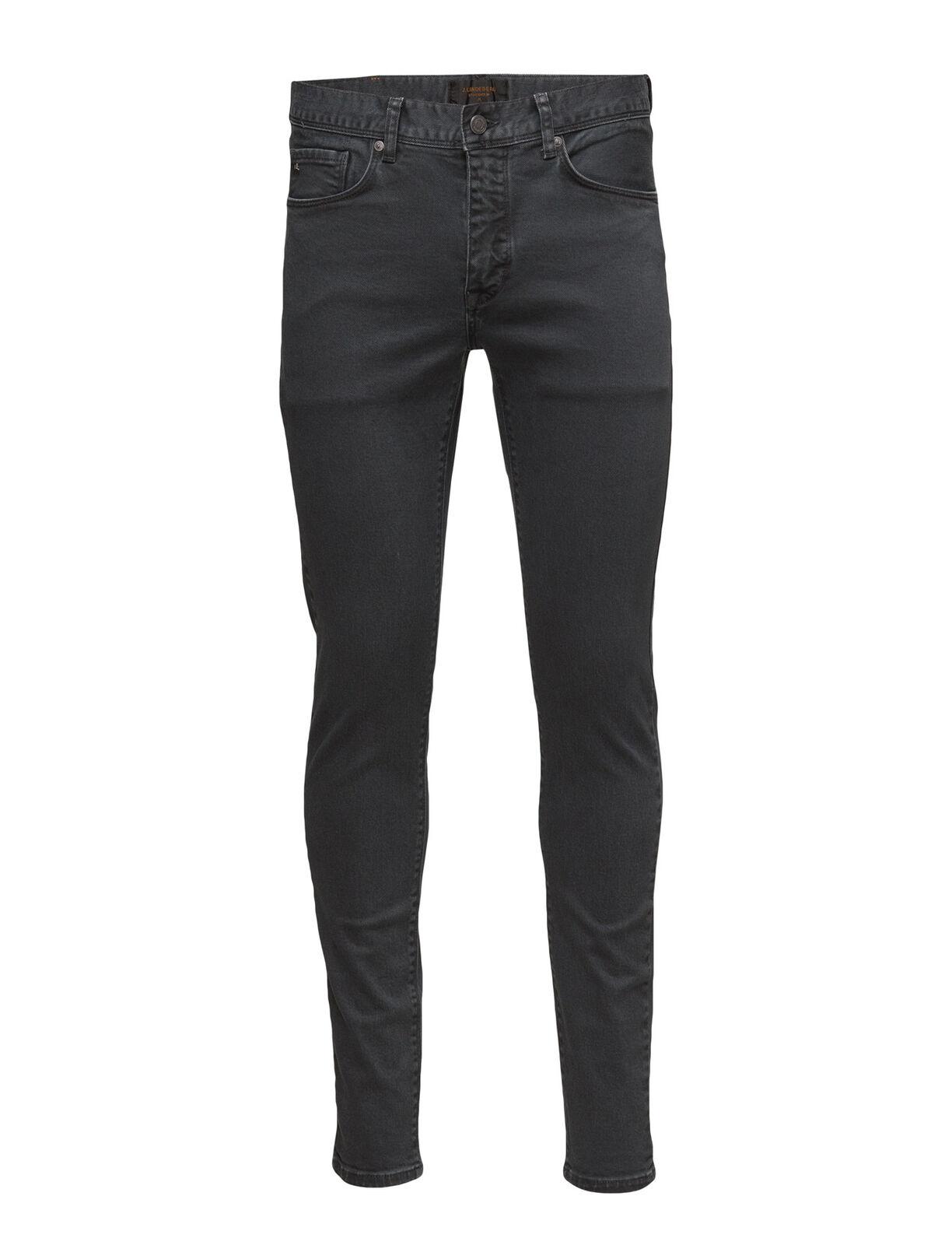 J. LINDEBERG Men's Rhino Grey Damien Crashed Jeans  NWT