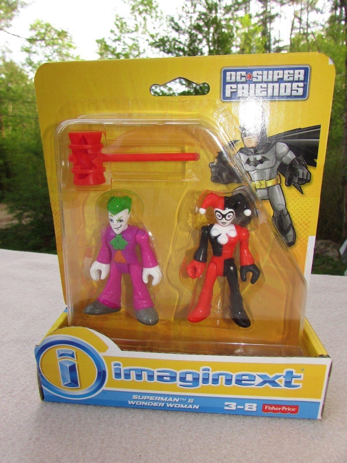 Imaginext DC Super Friends The Joker & Harley Quinn ERROR CARD superman wonder