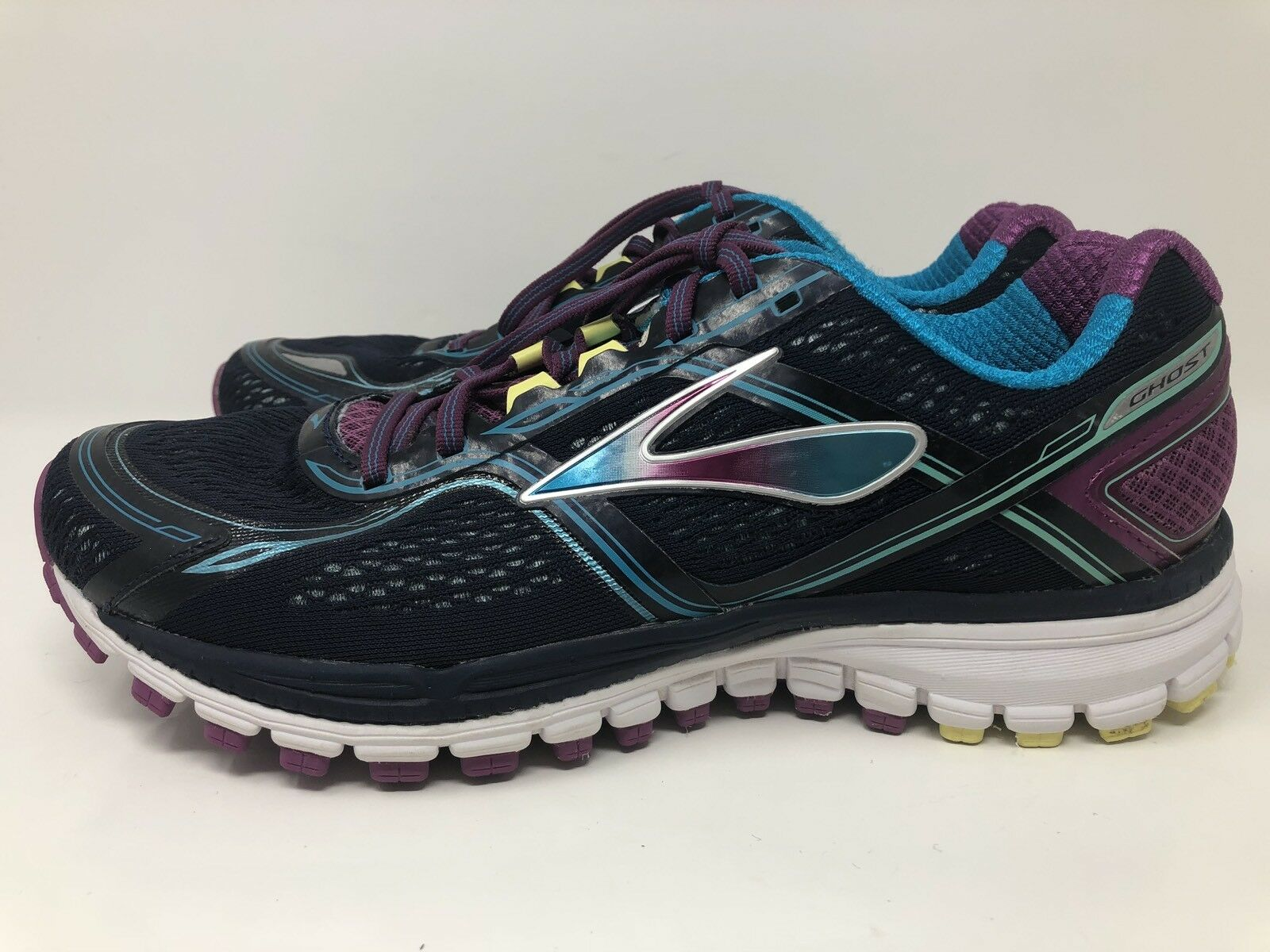 BROOKS GHOST 8 EIGHTH EDITION NAVY TEAL RUNNING Chaussures SNEAKERS Femme 11 M