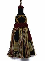 Castellano Beltrame Black Crimson Green Teal Gold Mix Decorative Key Tassel