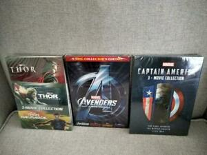 10-Marvel-DVD-Lot-Avengers-4-Movie-Collection-Captain-America-amp-Thor-Trilogy