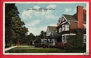 HORNELL-NY-MAIN-STREET-EAST-FROM-CENTER-1918-McKIBBIN-NEW-SMYRNA-FL-POSTCARD