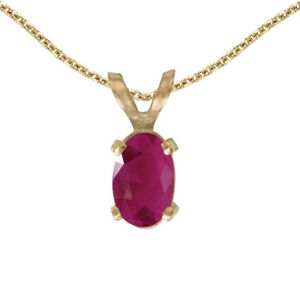 14k-Yellow-Gold-Oval-Ruby-Pendant-with-18-034-Chain