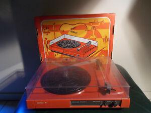 radiola d 5220 tourne disque platine orange philips ebay. Black Bedroom Furniture Sets. Home Design Ideas