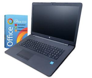 HP Notebook 17 Zoll / 2 x 2,60Ghz / 4GB / 1TB HDD / DVD-RW / Win10 / Office 2018