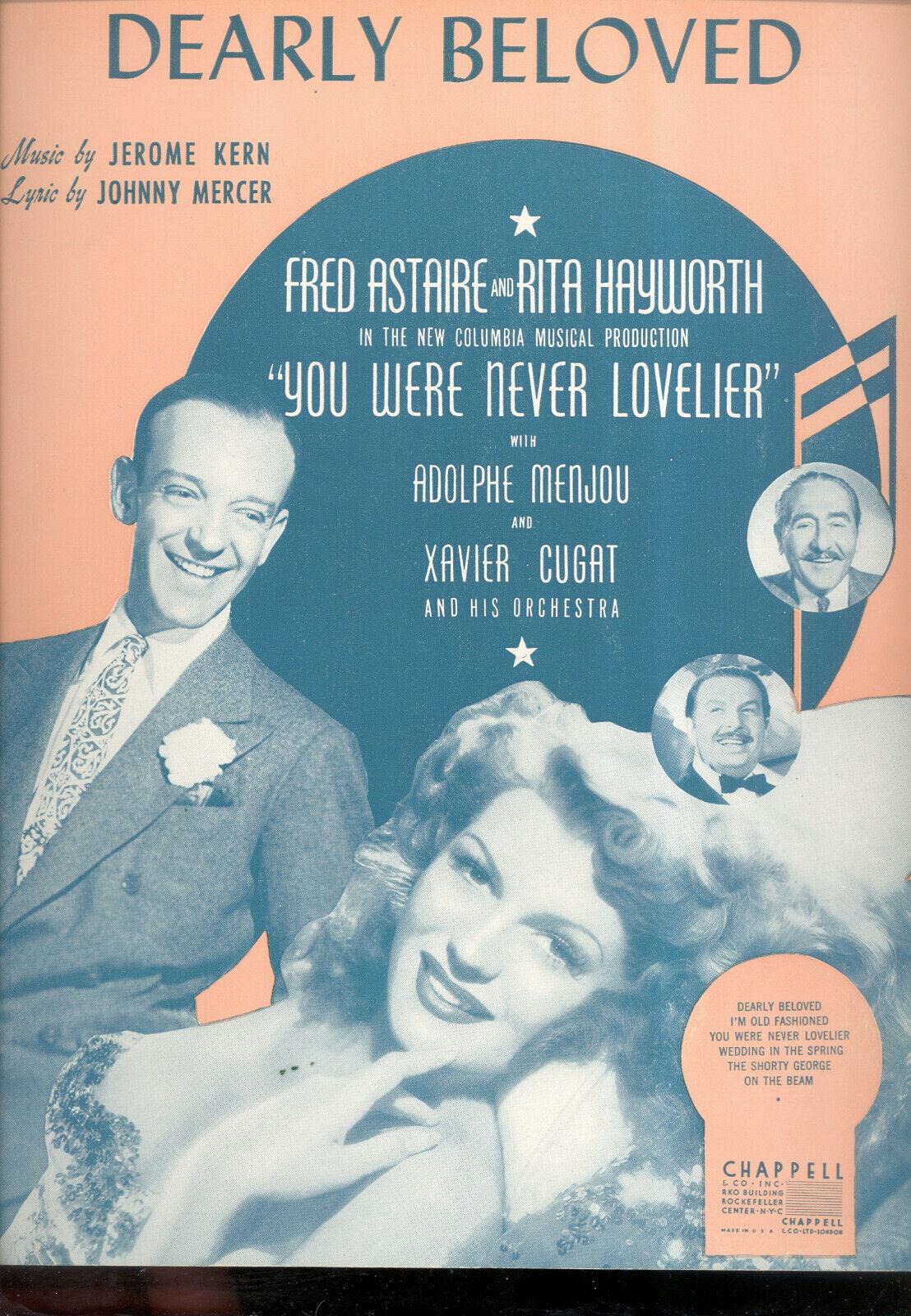 Usted nunca fueron más más más bella partituras  queridos  Rita Hayworth Frojo Astaire  gran venta