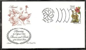 US-SC-1963-State-Birds-And-Flowers-Hawaii-FDC-Artmaster-Cachet