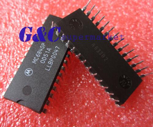 10PCS MC6840P 6840P Motorola DIP28 Programmable Timer Module IC NEW D61