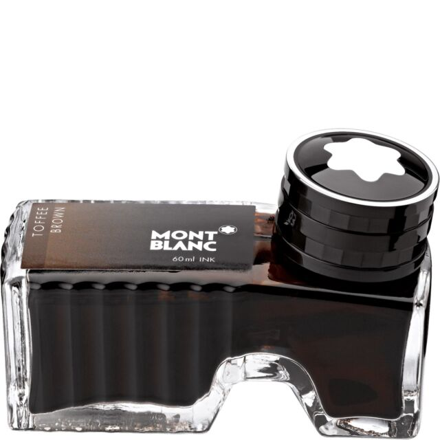 MONTBLANC TINTE IM GLAS / TINTENFASS / INK 60 ML, BRAUN / TOFFEE BROWN, 105188