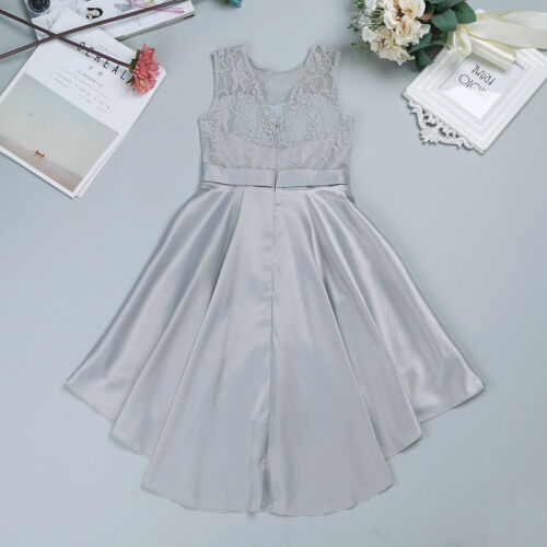 UK Girls Flower Bridesmaid Dress Kids Party Princess Wedding Outfit Pageant Prom