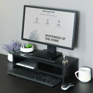Desktop-Computer-Riser-Riser-Monitor-Stand-Laptop-TV-Office-Desk-Organizer-Black