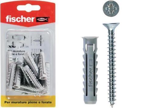 Fischer clavijas de nailon SX 10 tornillo 4+4 PIEZAS ø 10mm x mampostería