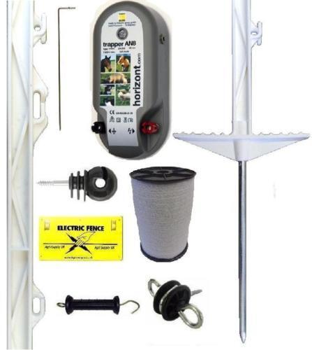 Cerca Eléctrica Esgrima Starter Kit dinamizador puestos 12mm Poly cinta Caballo Pony