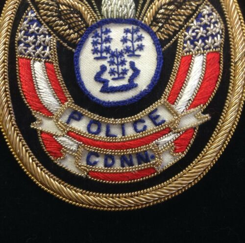 Town of Bethel Connecticut CT Police Association Bullion Emblem Patch Made in US