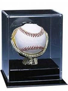 Baseball Ball Gold Glove Display Holder Case Caseworks Signed Autograph Stand