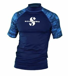 ScubaPro Men/'s UPF 50 Short Sleeve Rash Guard Aegean