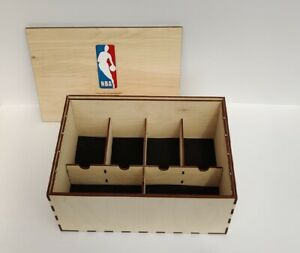 NBA Basketball Trading Cards Collector's wooden storage box