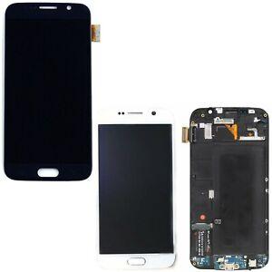 DISPLAY-LCD-TOUCH-SCREEN-CON-FRAME-PER-SAMSUNG-GALAXY-S6-G920F-NERO-BIANCO