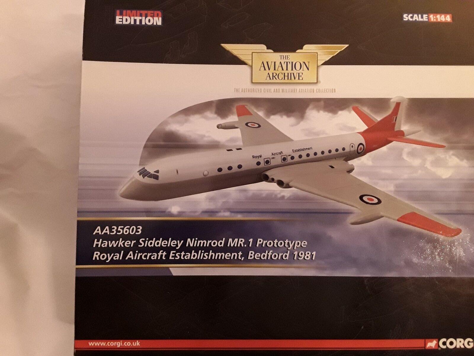 Hawker siddeley nimrod mr.1 prototyp royal flugzeuge 1981  1 144 corgi aa35603