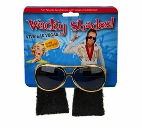 b817626b2bdb5 Elvis Style Novelty Wacky Shades Party Glasses With Side Burns Funky Dress  UK