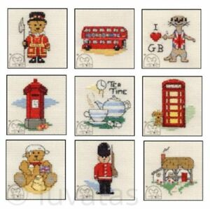 Mouseloft-Stitchlets-039-Images-of-Britain-039-Cross-Stitch-Kits-Choice-of-10-Designs
