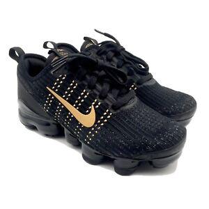 Nike-Air-Vapormax-Flyknit-3-GS-Black-Gold-BQ5238-004-Size-5Y