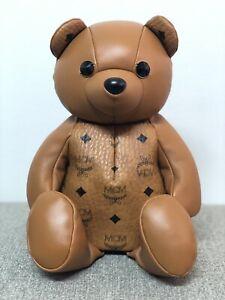Details about NEW FULL SET MCM Cognac Zoo Teddy Bear Backpack & Bag Swarovski Crystal Eyes