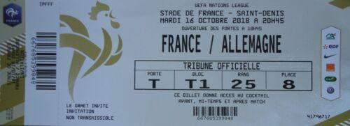 mint VIP TICKET Nation League 16.10.2018 Frankreich France  Deutschland Germany