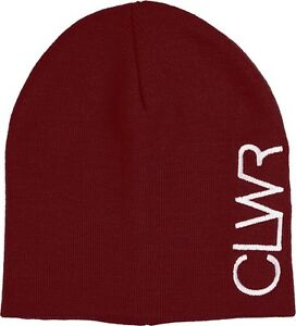 wearcolour-CLWR-logo-ski-snowboard-Bonnet-taille-unique-Bordeaux