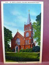 Postcard SC Greenville St. Mary's Church