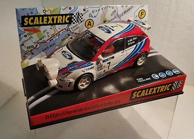 Spielzeug Kinderrennbahnen Imported From Abroad Qq 6026 Scalextric Ford Focus Wrc Montecarlo 99 #7 Mc Rae Farera Complete In Specifications