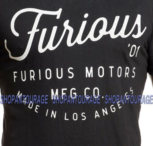 Fast /& Furious By Affliction Furious 01 FF393 Short Sleeve Black T-shirt for Men