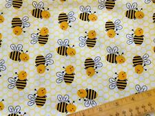 BEES /& HONEYCOMB 100 /% cotton print fabric from Elizabeth/'s Studio