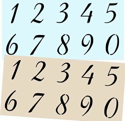 Beducht Stencil Numbers 4 Inch Numbers Diy Crafts Signs Addresses Om Digest Greasy Food Te Helpen