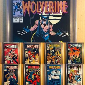 WOLVERINE-1-TO-10-ALL-CGC-9-8-amp-WHITE-PAGES-1988-PATCH-SERIES-10-BOOKS