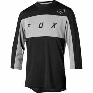NWT-New-FOX-RACING-Ranger-Dri-Release-3-4-Jersey-Shirt-L-Large-Black-Mens-c71i
