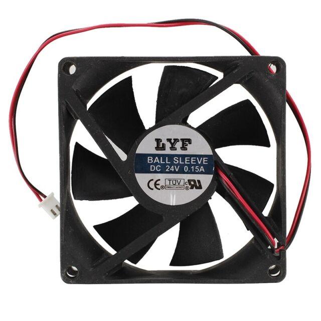 1X(80mm x 25mm Brushless DC 24V PC Case Cooler Fan Black O2L1)