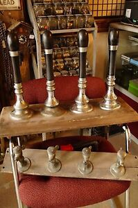 Large-Vintage-1947-Gaskell-amp-Chambers-Dalex-Beer-Tap-Handle-set-of-4