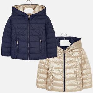 sale retailer 0bd3b 71928 Details zu MAYORAL Mädchen Wendbare Jacke 4431 blau gold Übergangsjacke  Steppjacke NEU