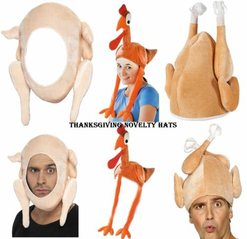 Christmas Turkey Hats Adult Xmas Novelty Santa Fancy Dress Costume Accessories